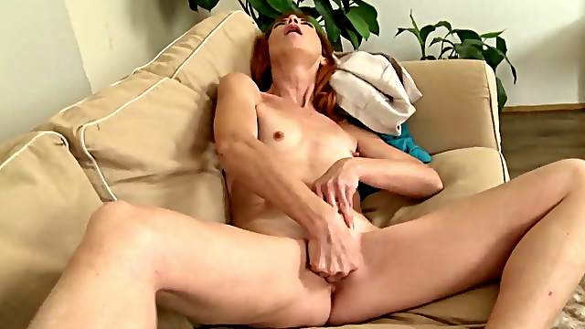 Mega naughty solo dildo porn with a naked mature mom with ...